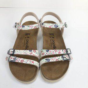 BIRKENSTOCK Papillio Lana White Floral Sandals